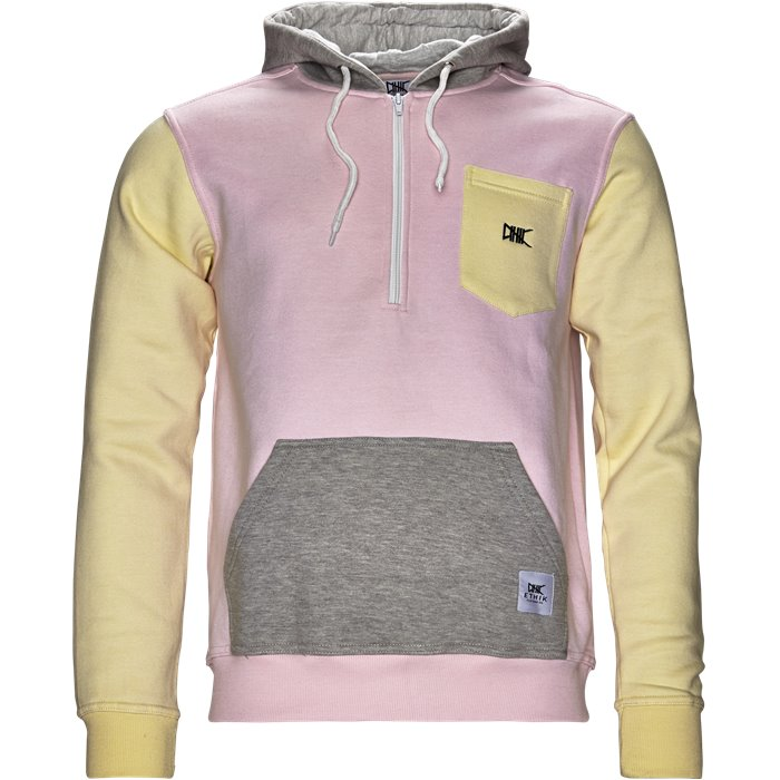 1/2 zip Hoodie - Sweatshirts - Regular - Pink
